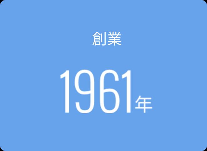 創業1961年